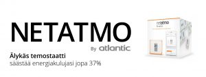 Netatmo älytermostaatti etäohjaus Atlantic öljykondenssikattila