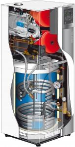 Atlantic Perfisol Hybrid Duo maakaasukondenssikattila aurinkokeräimellä