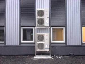 Hallin lämmitys ilmavesilämpöpumpuilla Excellia  44 kW