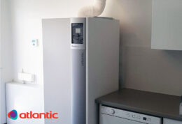 Atlantic Effinox kaasukondenssikattila kodinhoitohuoneessa